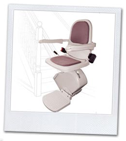 An example of a straight stairlift